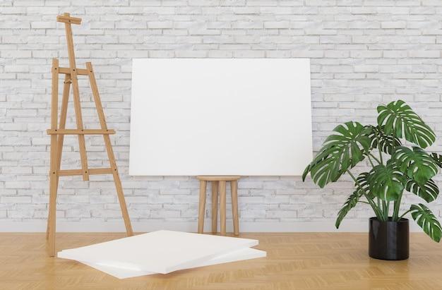 Canvas op houten kruk