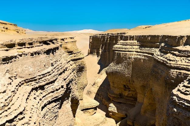 Canyon de los perdidos, canyon of the lost of canyon del zapa bij ica in peru