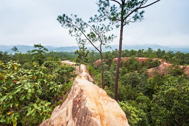 Canyon in pai, provincie mae hong son, in het noorden van thailand