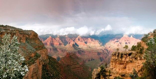 Canyon uitzicht in de winter