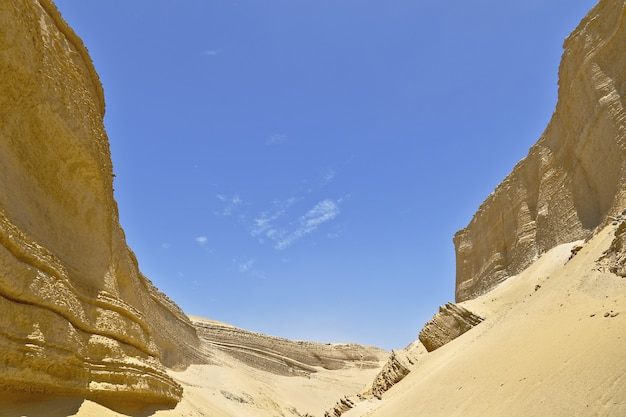 Canyon van de verlorenen in de pisco-woestijn
