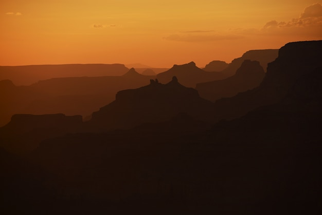 Canyons silhouette