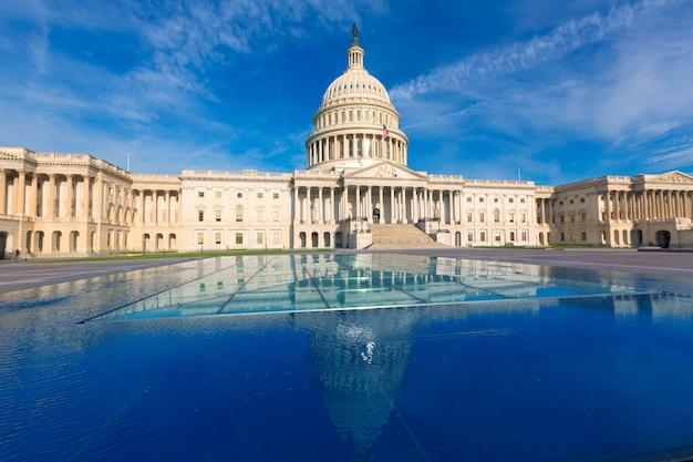 Capitol die de voorgevel de vs van het washington dc van het oosten bouwen