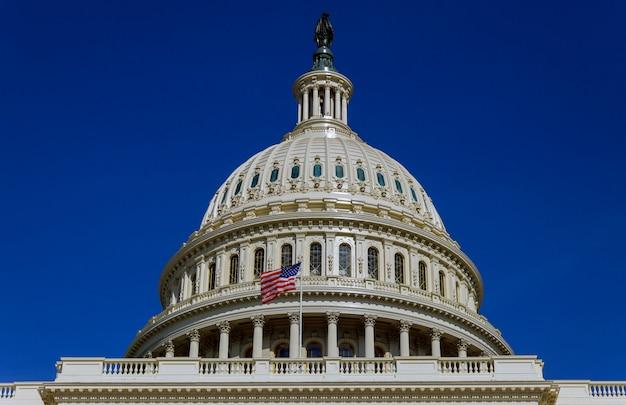 Capitol die toneelmening, washington dc, de vs bouwen