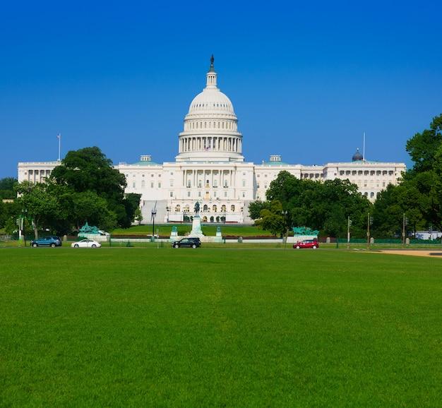 Capitol die washington dc-zonlicht dag de vs bouwen