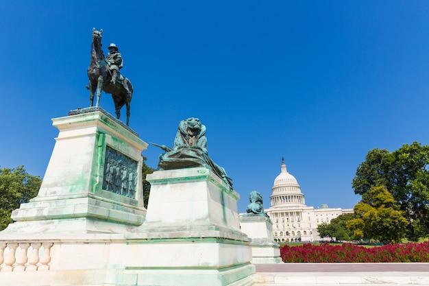Capitol gebouw washington dc zonlicht congres