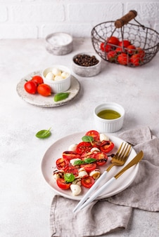 Caprese salade met tomaten en mozzarella