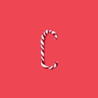 Caps snoep en suiker lettertype. brief c.