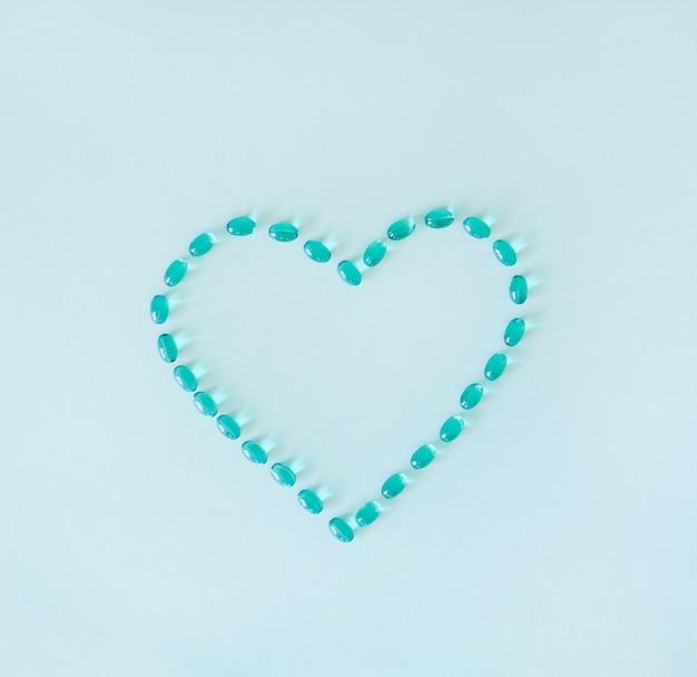 Capsules met vloeibare gels in hartvorm