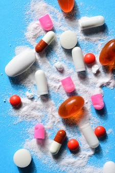 Capsules pillen gebroken met je poeder medicatie