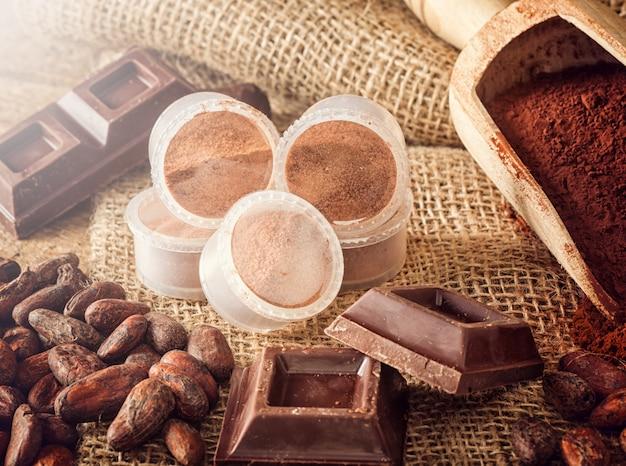 Capsules van chocolade