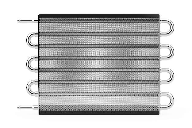 Car honeycomb radiator heater op een witte achtergrond. 3d-rendering.