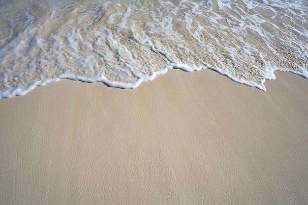 Caraïbisch wit de golfschuim van de zandkust