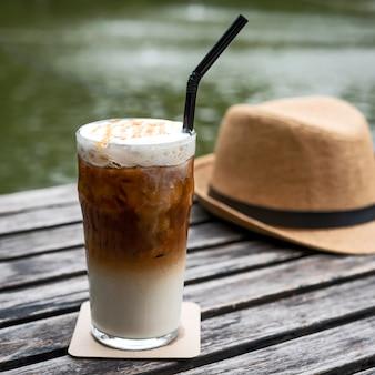 Caramel macchiato coffee.