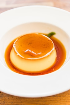 Caramel vla pudding