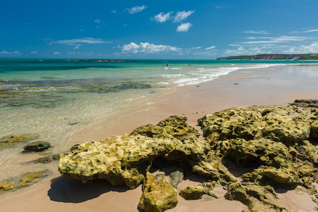 Carapibus-strand, dichtbij joao pessoa, conde, paraiba, brazilië op 27 december 2018.