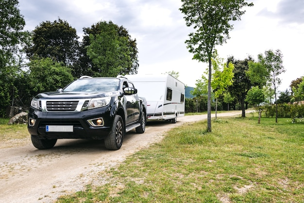 Caravan en terreinwagen set