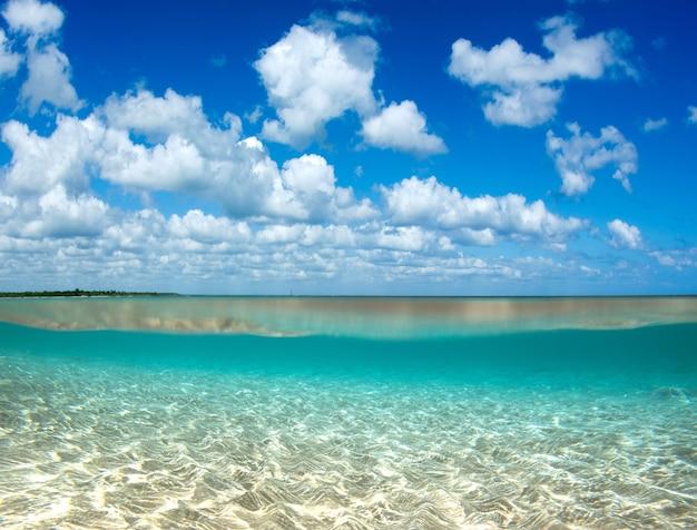 Caribisch helder strand en tropische zee