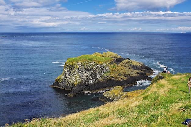 Carrick a rede rope bridge, noord-ierland, verenigd koninkrijk