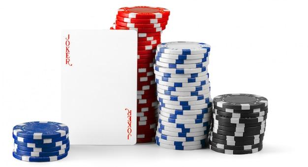 Casinospaanders op wit worden geïsoleerd dat