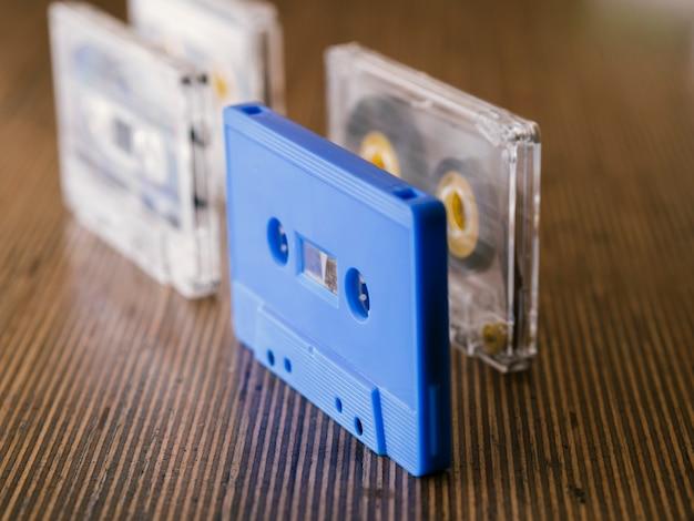 Cassettes met diagonale weergave in verticale positie