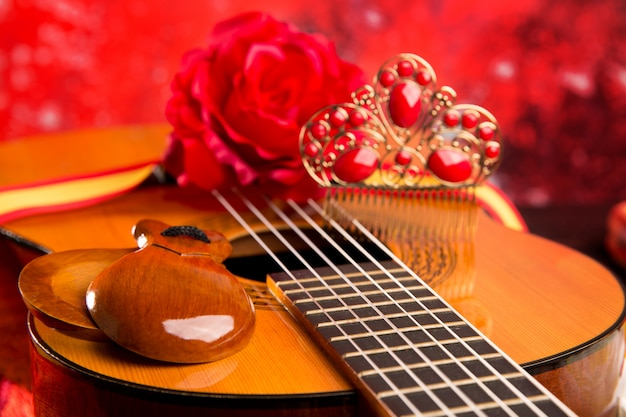 Cassic spaanse gitaar met flamenco-elementen