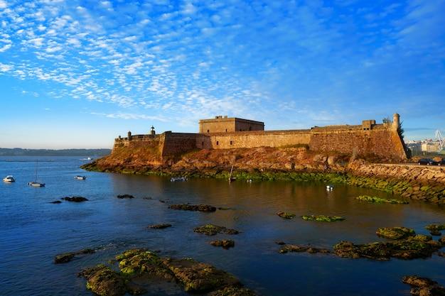 Castelo san anton in la coruna van galicië spanje