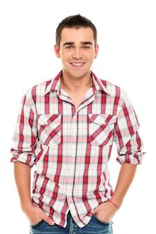 Casual jonge man poseren
