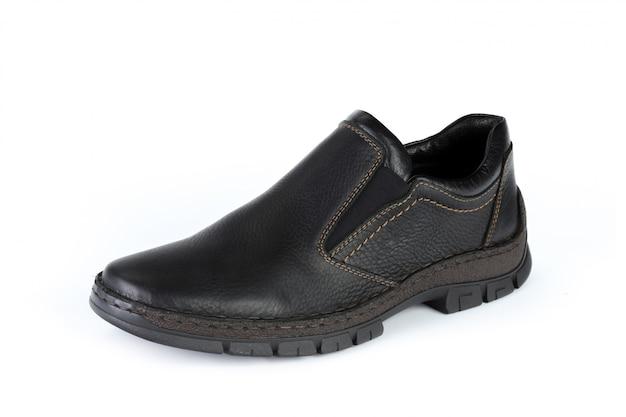 Casual mannelijke lederen schoenen geïsoleerd