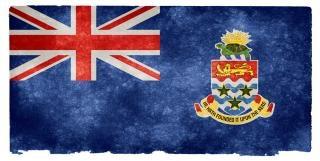 Cayman eilanden grunge vlag gedragen