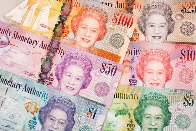 Caymaneilanden dollar een zakelijke achtergrond