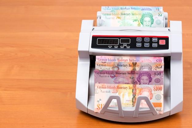 Caymaneilanden dollar in een telmachine