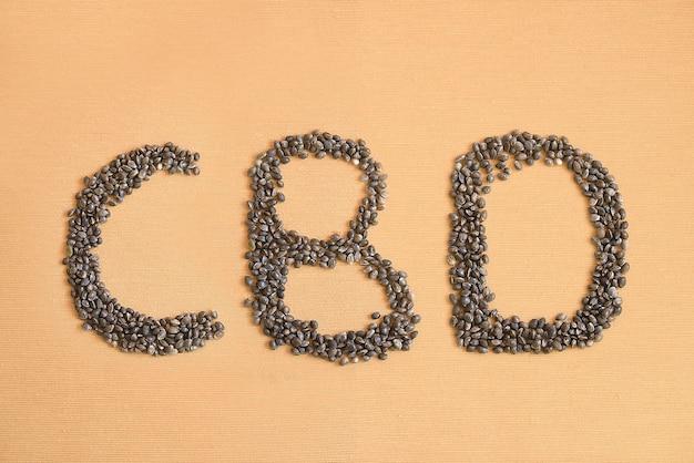 Cbd acroniem gemaakt met hennepzaden voor medicinaal gebruik