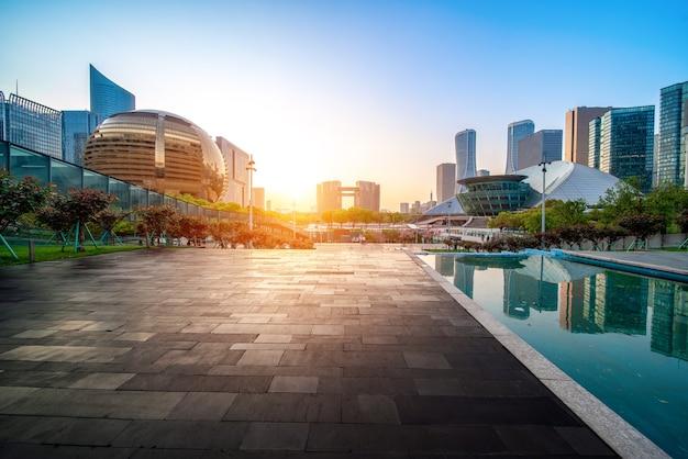 Cbd stedelijk landschap van qianjiang new city, hangzhou