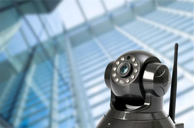 Cctv-beveiligingscamera op locaties