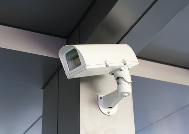Cctv beveiligingscamera van het morden-gebouw