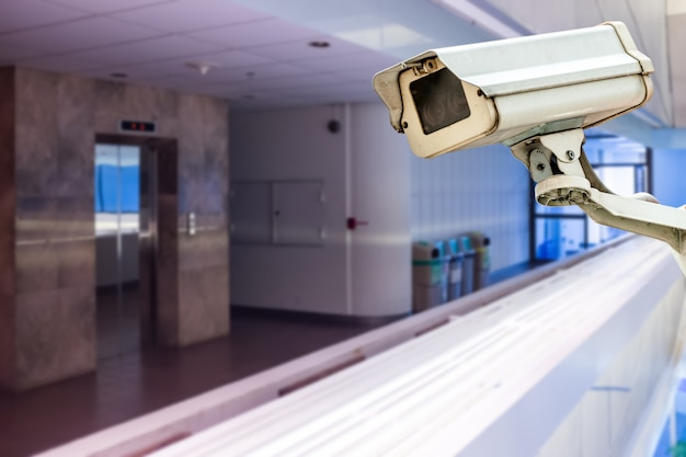Cctv in gebouw voor lift