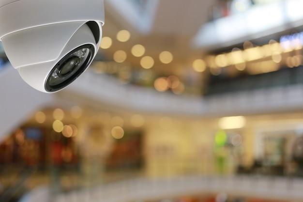 Cctv-tool in winkelcentrum apparatuur voor beveiligingssystemen.