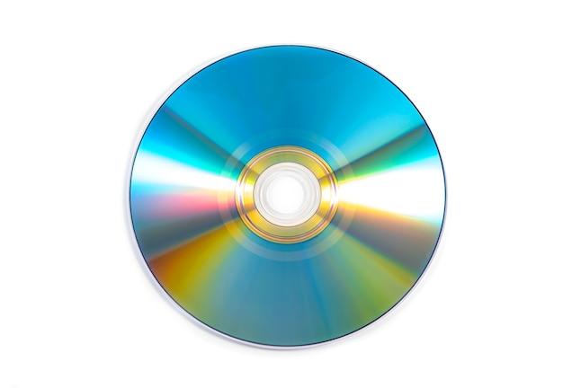 Cd dvd-schijf, kleurrijke cd geïsoleerd