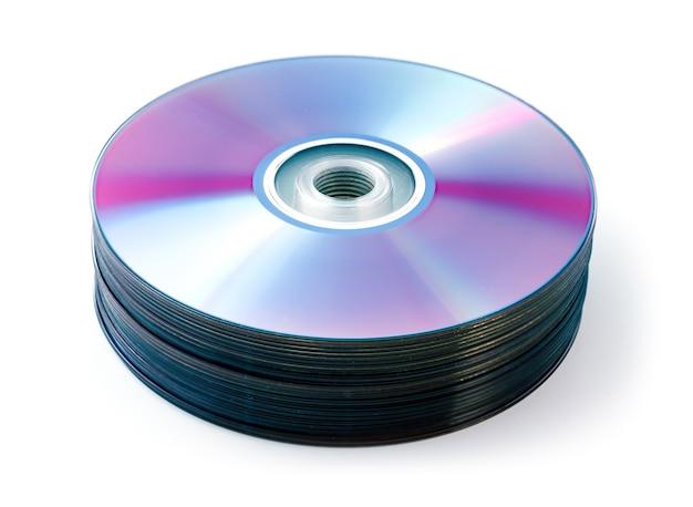 Cd, stapel dvd geïsoleerd