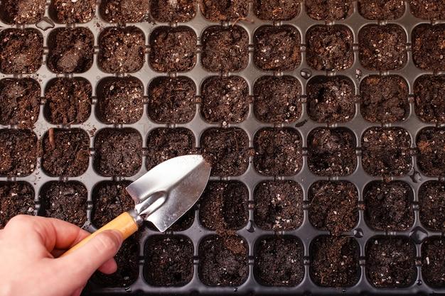 Cellen voor het planten van zaden en spruiten