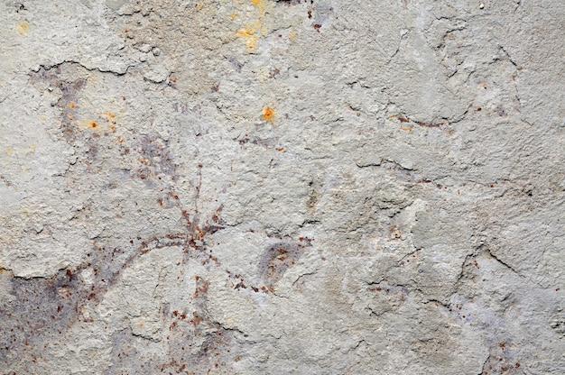 Cement op roestig metaal voor achtergrond