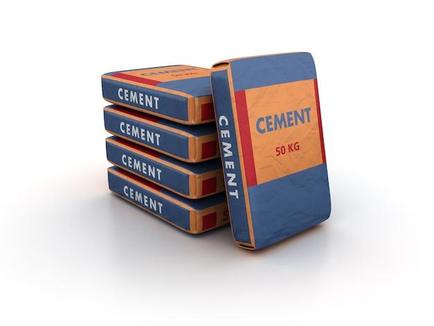 Cement zakken stapel