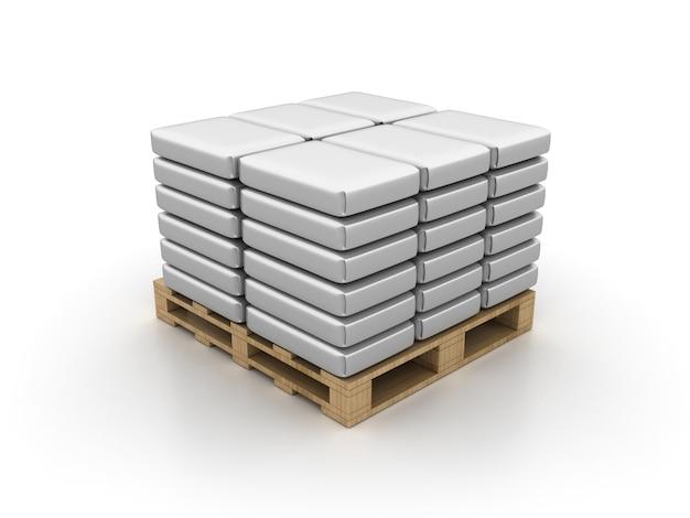 Cementzakken op pallet