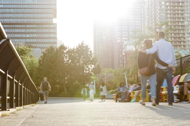 Census-concept gefotografeerd in een stad