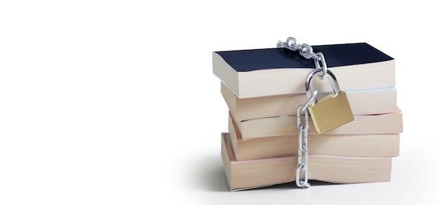Censuur concept met boeken bescherming concept beveiliging