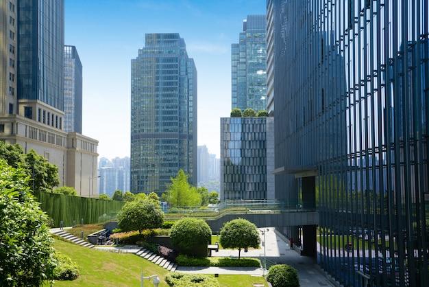 Centraal parkgazon en de financiële bouw van het centrumbureau, chongqing, china