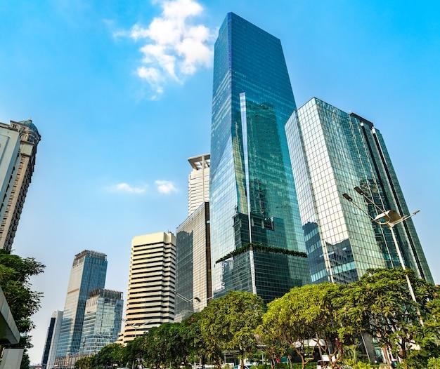 Centraal zakendistrict van jakarta. de hoofdstad van indonesië