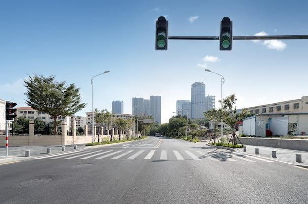 Centraal zakendistrict, wegen en wolkenkrabbers, xiamen