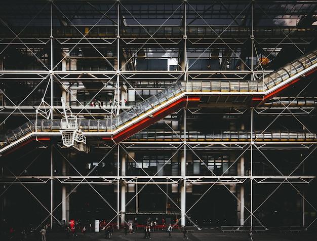 Centre georges pompidou in parijs, frankrijk